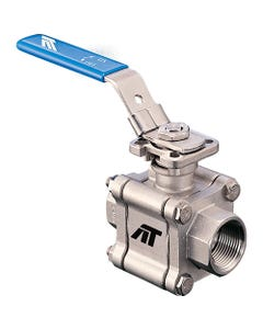 A-T Controls Series F88 Three-Piece Full Port Fire Safe Ball Valves