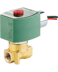 ASCO Valve 8262/8263 General Service Normally Closed Two-Way Solenoid Valve - Brass Construction