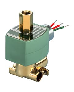 ASCO Valve 8317 Three-Way Quick Exhaust Solenoid Valve, Brass Construction