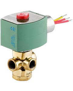 ASCO Valve 8320 Three-Way General Service Solenoid Valves - Brass Body, Construction Reference 1
