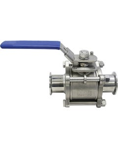 Steriflow Food & Beverage FB8905 3A-Sanitary Approved Three-Piece Ball Valve